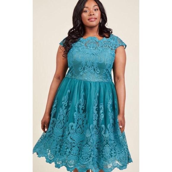 5e92df7c7863 Exquisite Elegance Dress in Lake